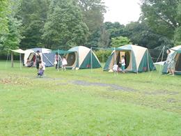 出会いの森でキャンプ
